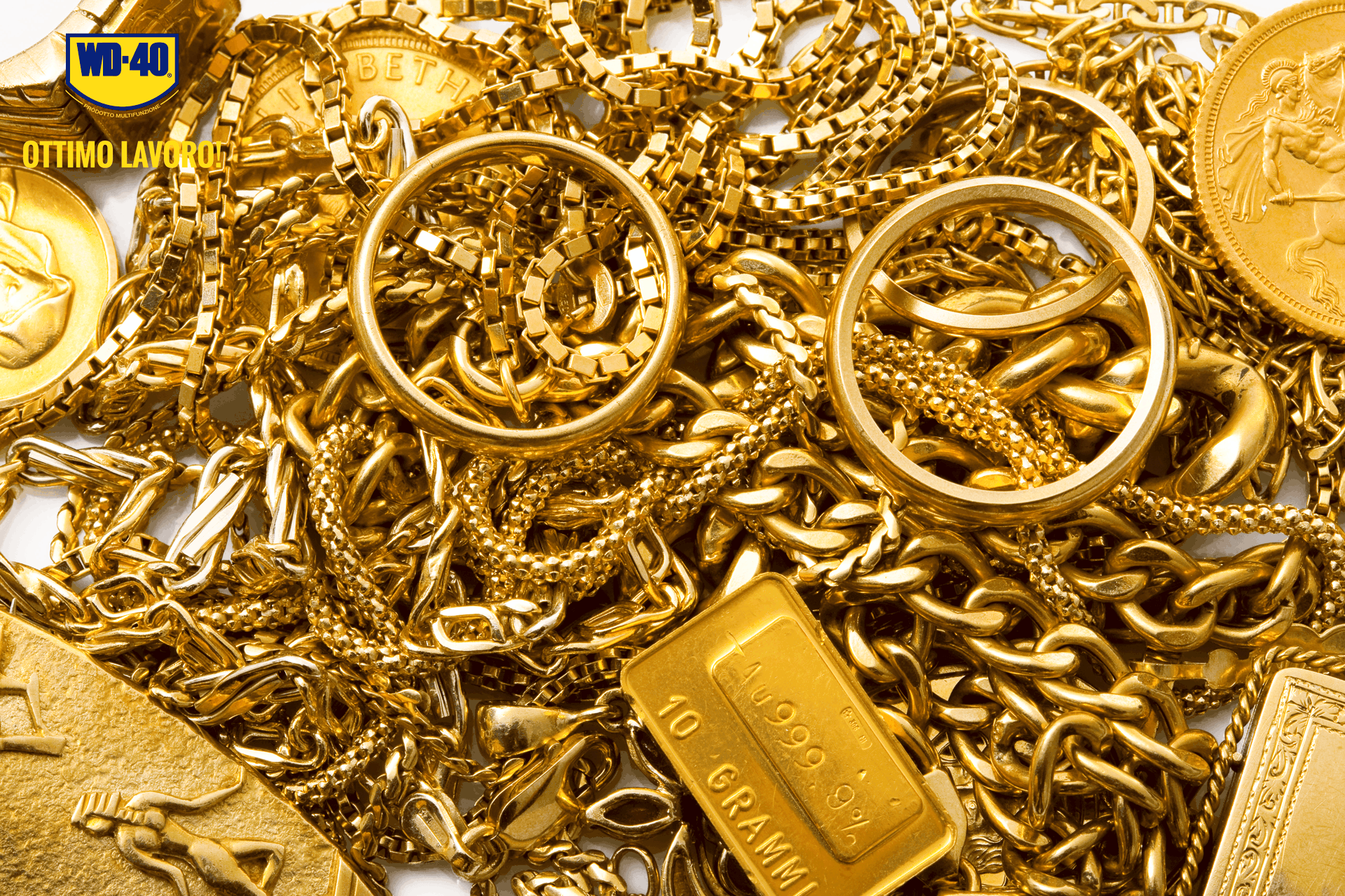 come lucidare l'oro