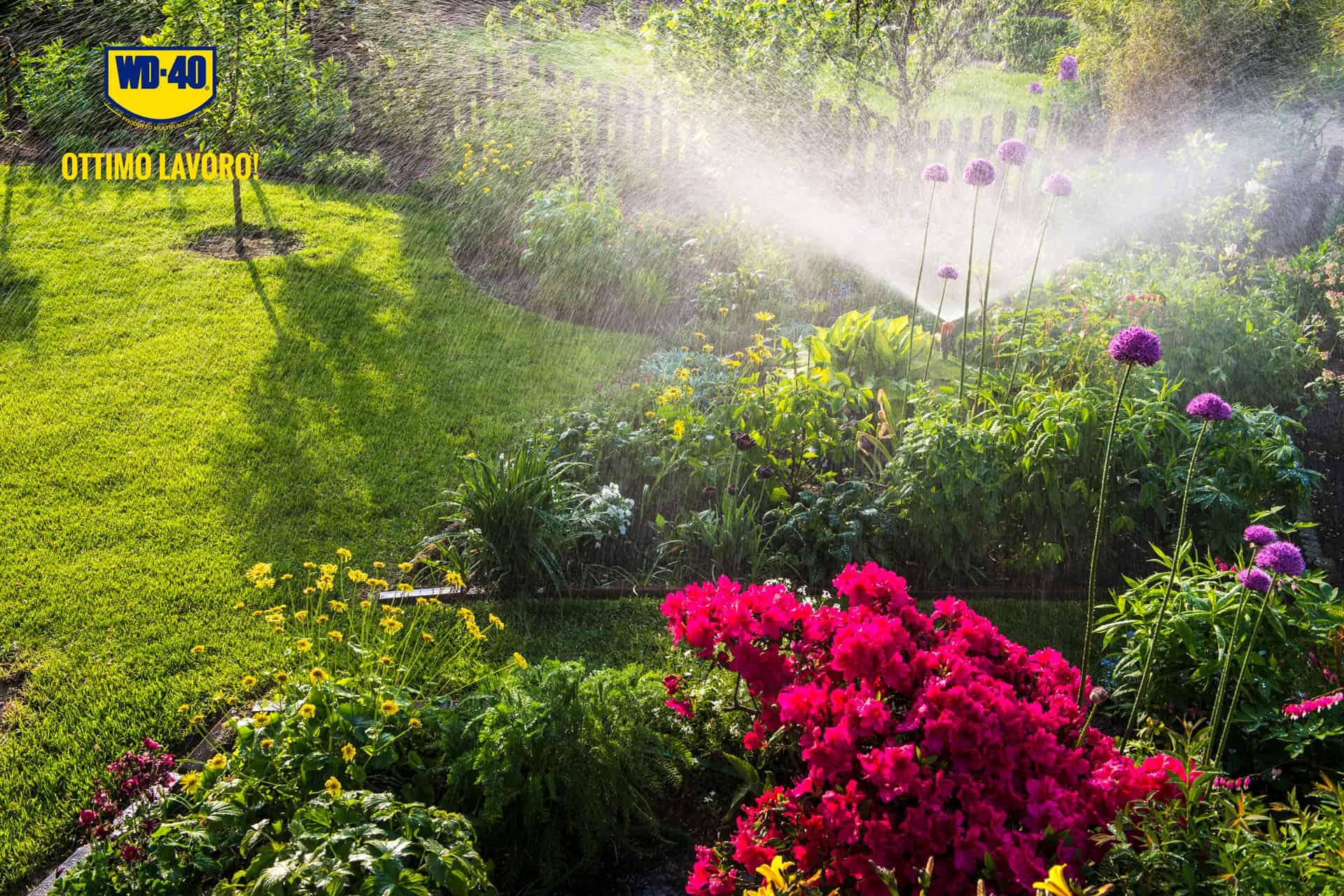 come pulire gli irrigatori da giardino