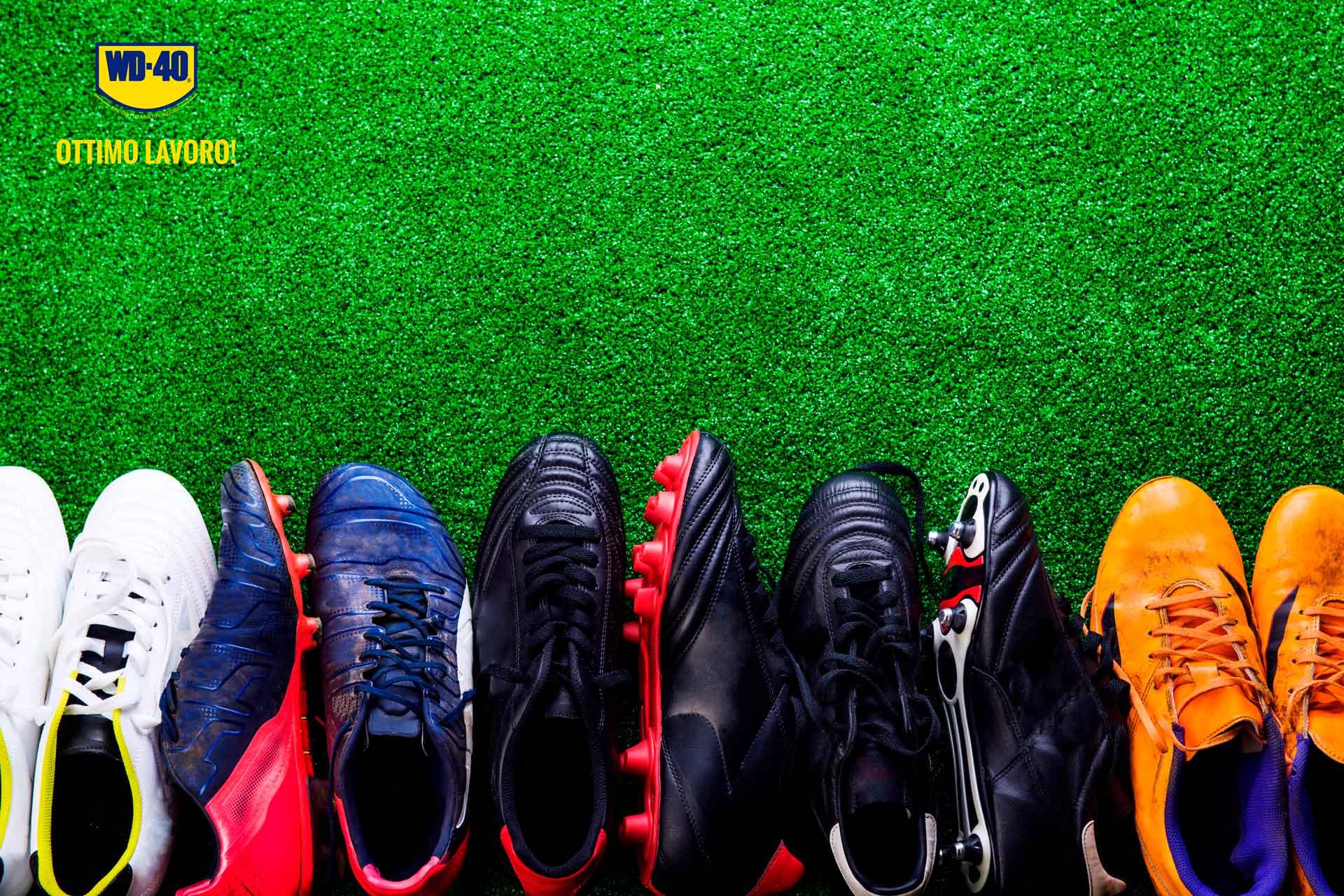 come pulire le scarpe da calcio