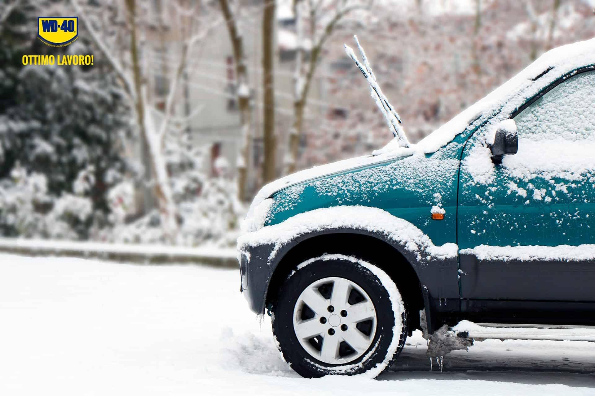 manutenzione auto in caso di ghiaccio e neve